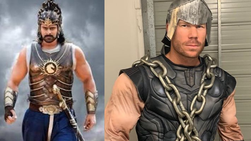 Warner asks fans who is a better Baahubali, him or Prabhas; gets interesting response