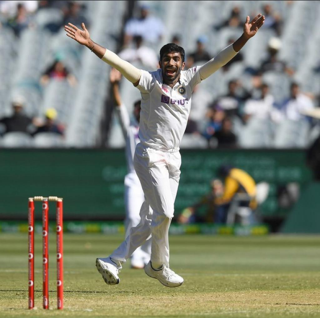 Jasprit Bumrah celebrates after taking wicket | Jasprit Bumrah Twitter