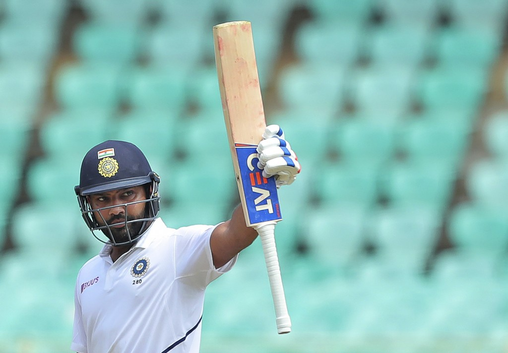 Man of the Match Rohit Sharma scored twin hundreds against South Africa in Vizag | AFP