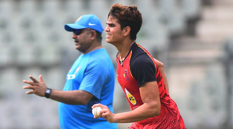 Arjun scored 48 off 27 deliveries. (Express)