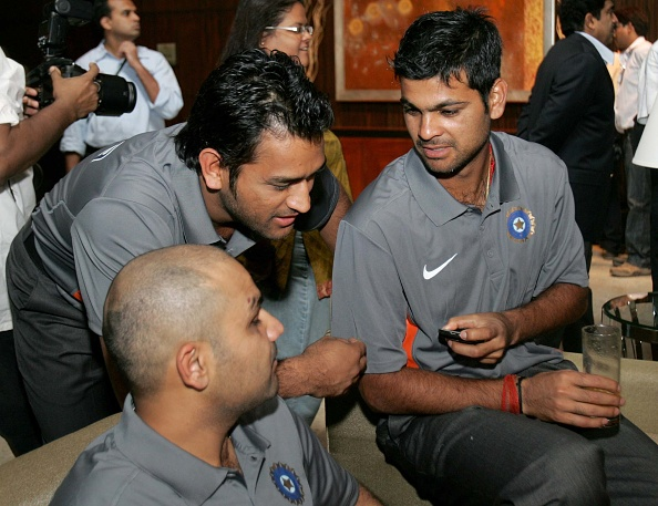 MS Dhoni, RP Singh and Virender Sehwag  | GETTY
