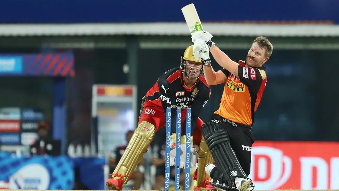 David Warner plays for Sunrisers Hyderabad in the IPL 2021   BCCI-IPL