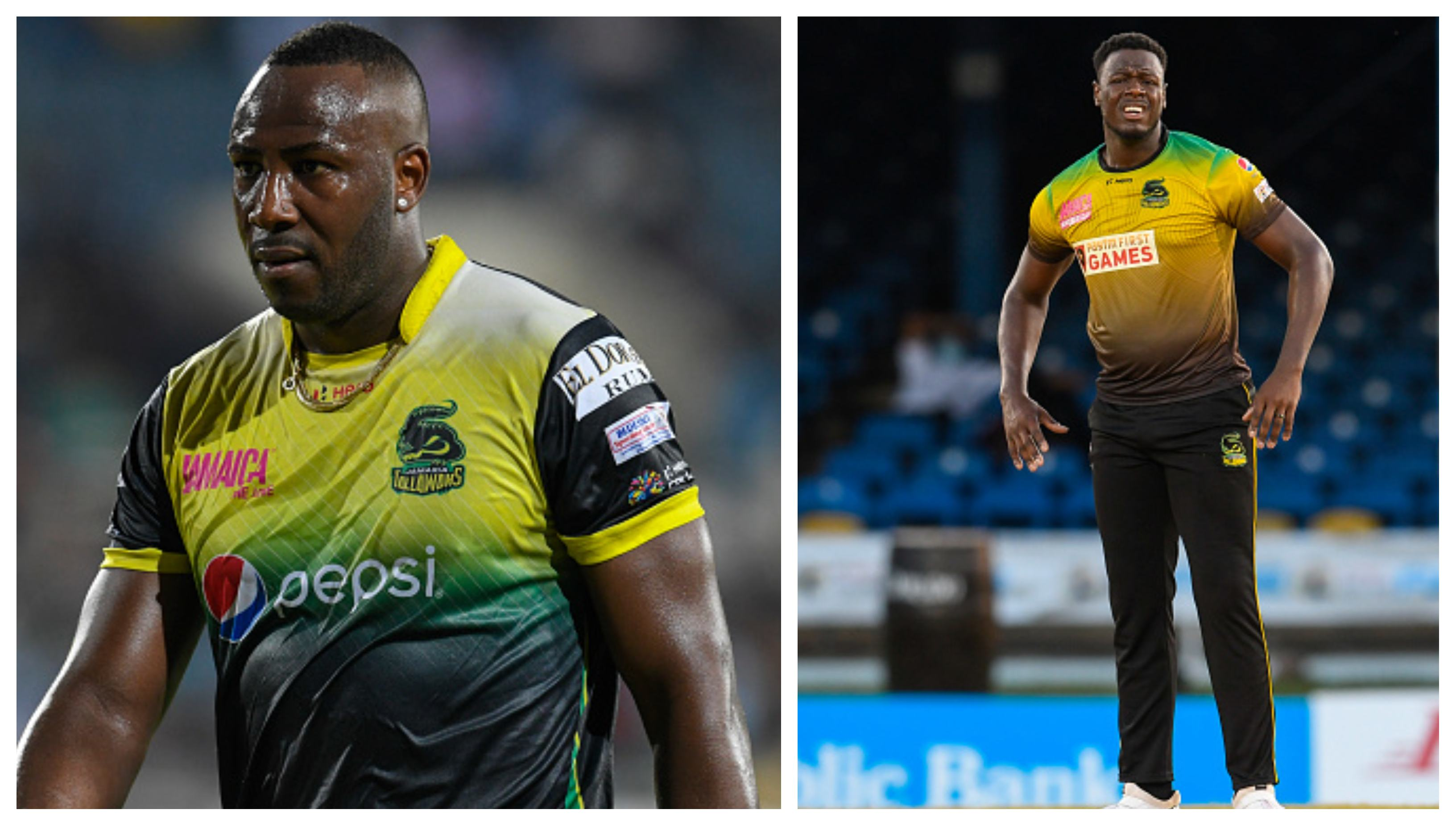 Andre Russell and Carlos Brathwaite | Getty