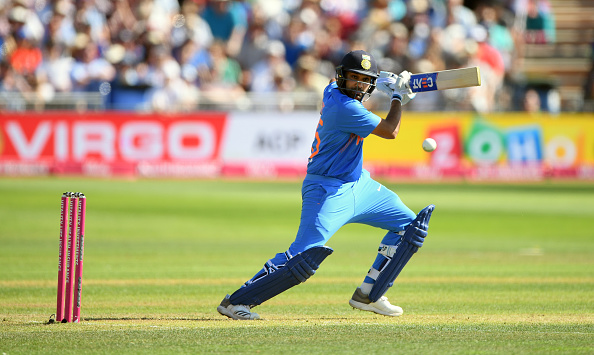 Rohit Sharma was in full flow against England in Bristol | Getty