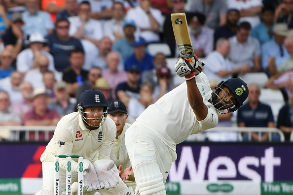 Debutant Rishabh Pant started off in Test cricket with a six off Rashid on the second ball he faced | Getty