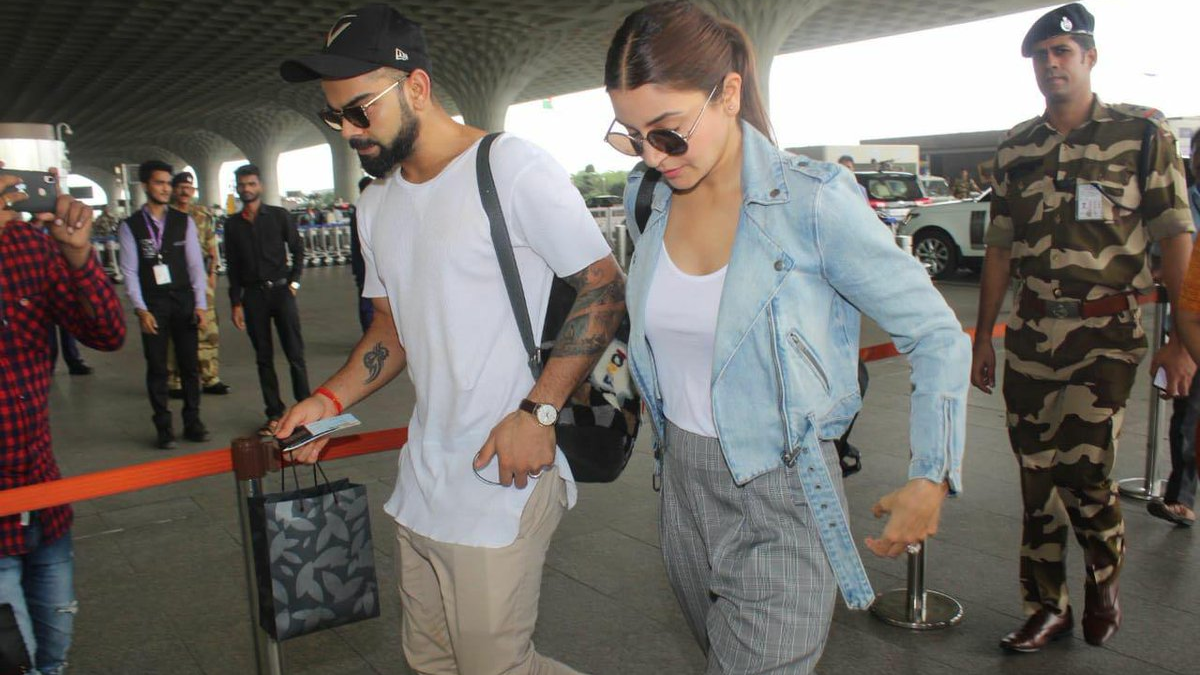 WATCH: Virat Kohli and Anushka Sharma at airport leaving for Bengaluru together