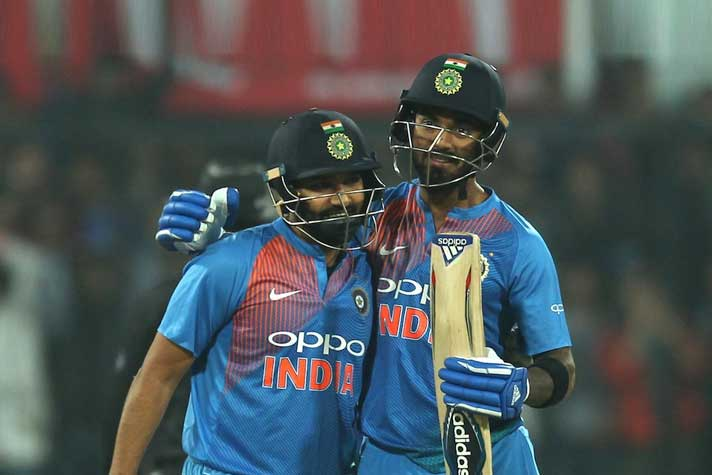 Rohit Sharma and KL Rahul are expected to open for India | AFP