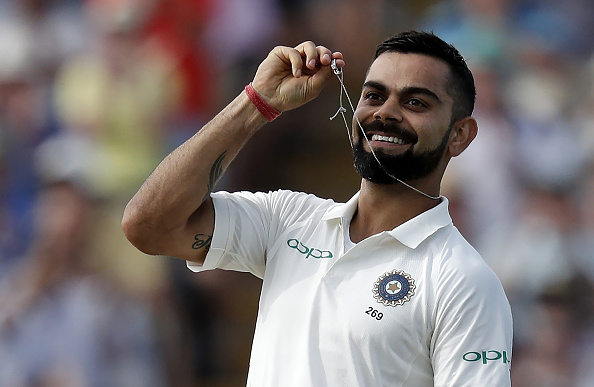 Virat Kohli has scoed 200 runs in a Test twice in the ongoing Test series against England | Getty
