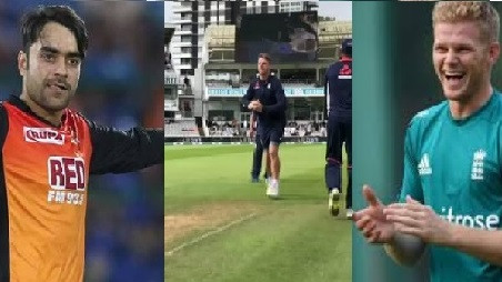 WATCH: Sam Billings and Rashid Khan try to figure out Jos Buttler's off-spin
