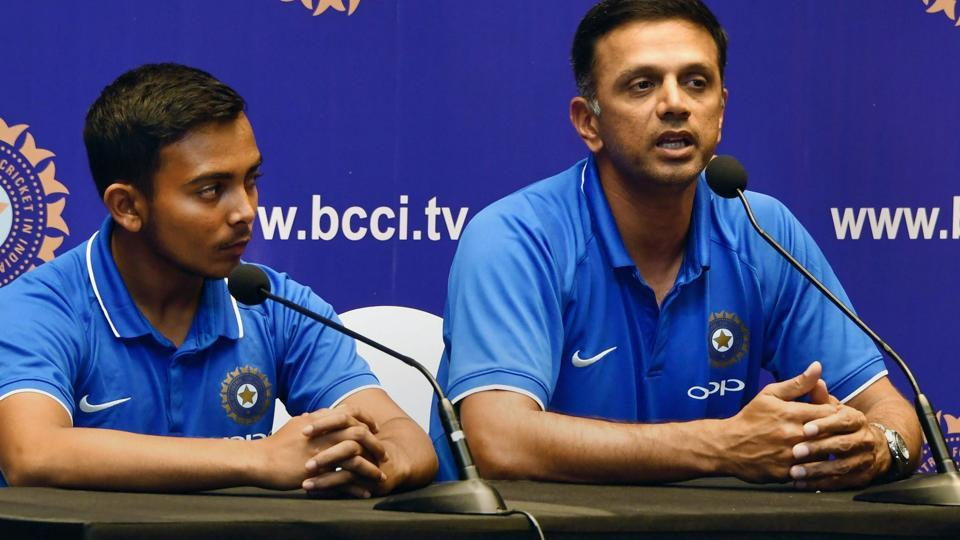 Rahul Dravid not pleased with his wards' performance in the Under-19 World Cup final