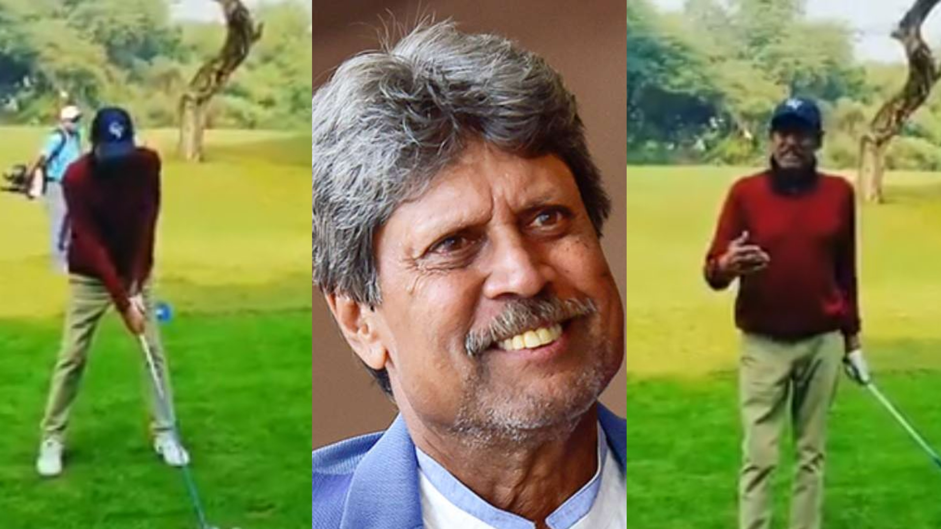 WATCH - Fit and healthy Kapil Dev enjoys golf with friends
