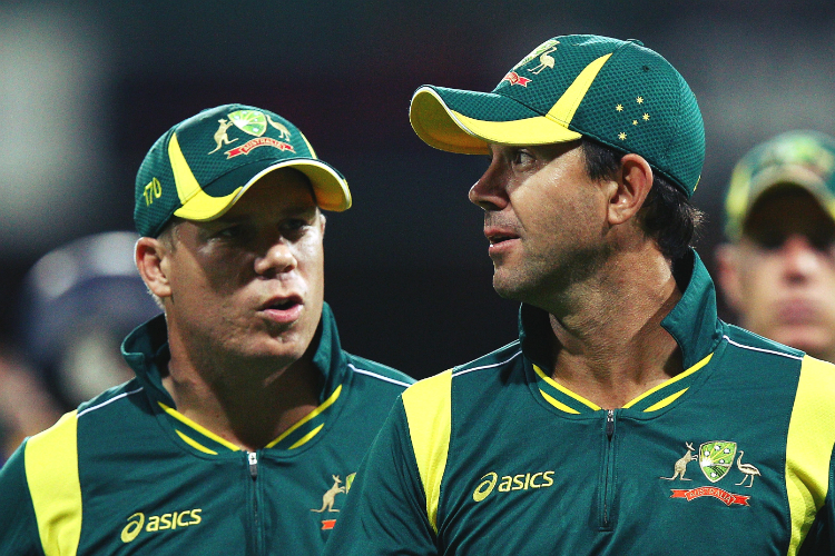 Ricky Ponting and David Warner | GETTY