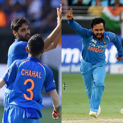 Bhuvneshwar Kumar and Kedar Jadhav picked three wickets each | Getty
