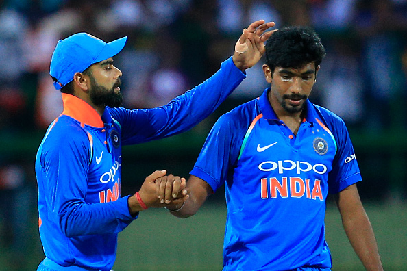 Virat Kohli and Jasprit Bumrah | Getty