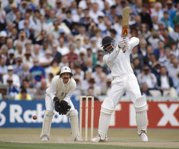 Mohammad Azharuddin during his blazing century at Lord's in 1990 | Getty