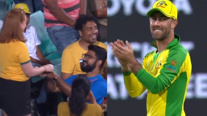 AUS v IND 2020-21: Glenn Maxwell approves Indian team fan's marriage proposal to girlfriend