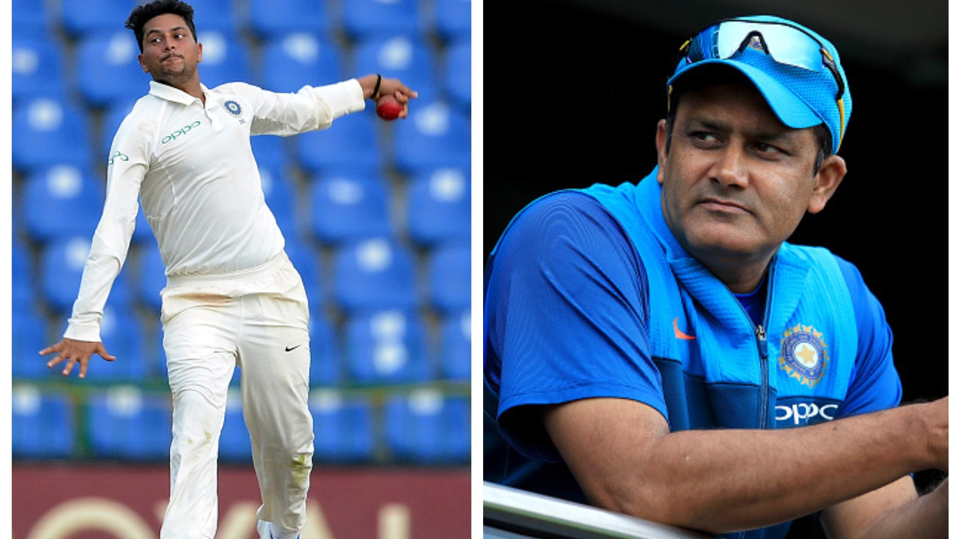 """You have to take five wickets"", Kuldeep Yadav recalls Anil Kumble's message ahead of Test debut"