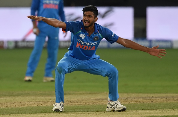 Khaleel Ahmed picked up 3 for 13 in India's 224-run victory in the fourth ODI against West Indies | Getty