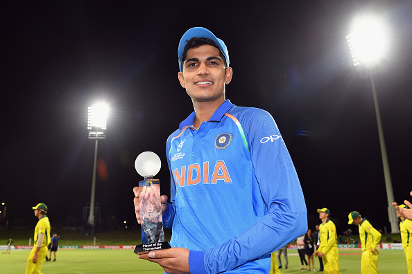 Gill was outstanding for India in the ICC U-19 Cricket World Cup | Getty