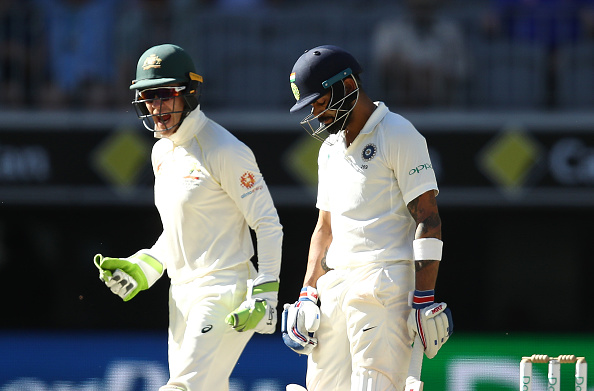 Paine and Kohli were involved in heated conversation in Perth | Getty mages