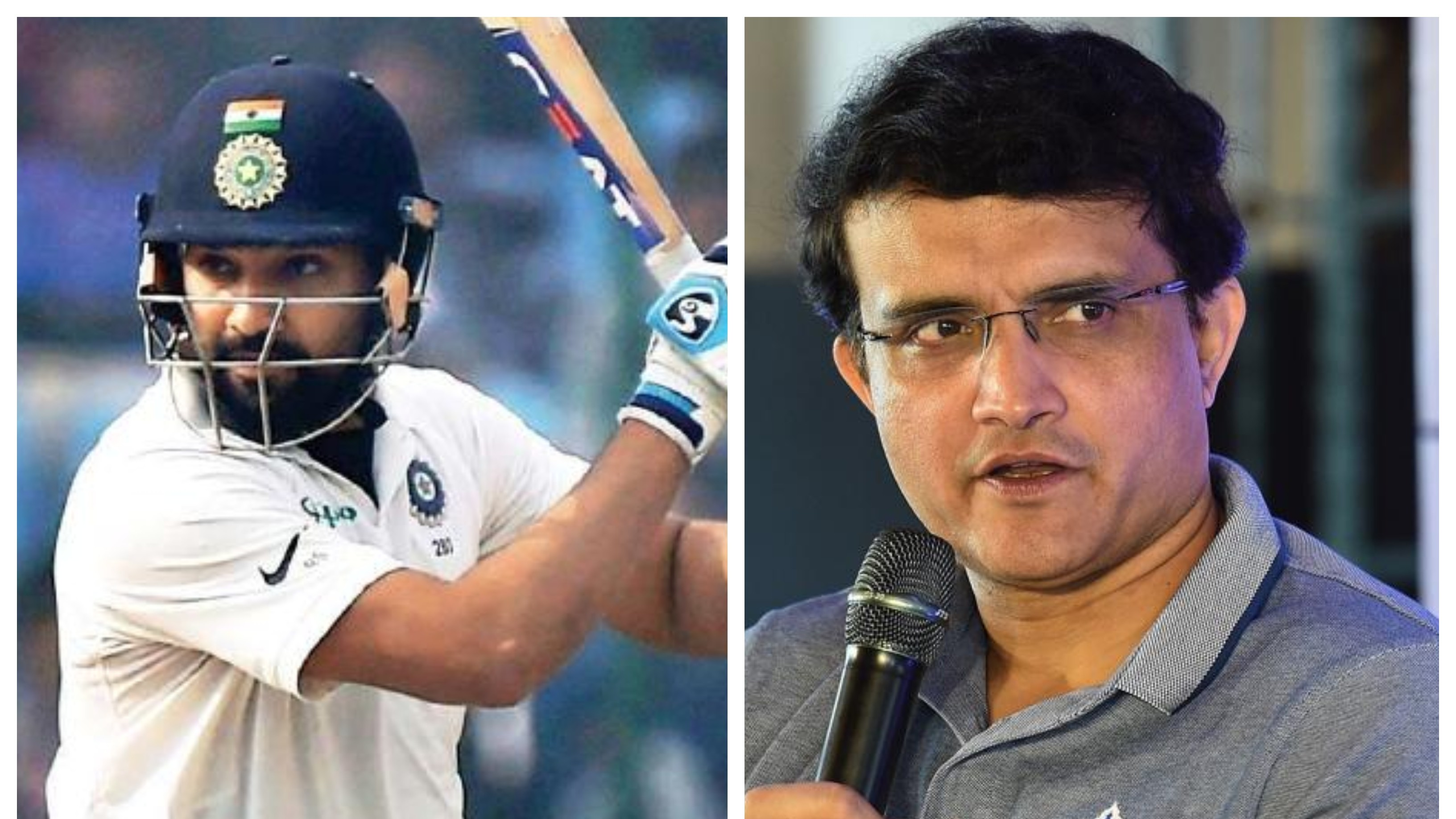 WI v IND 2019: Sourav Ganguly backing Rohit Sharma to open in Antigua Test