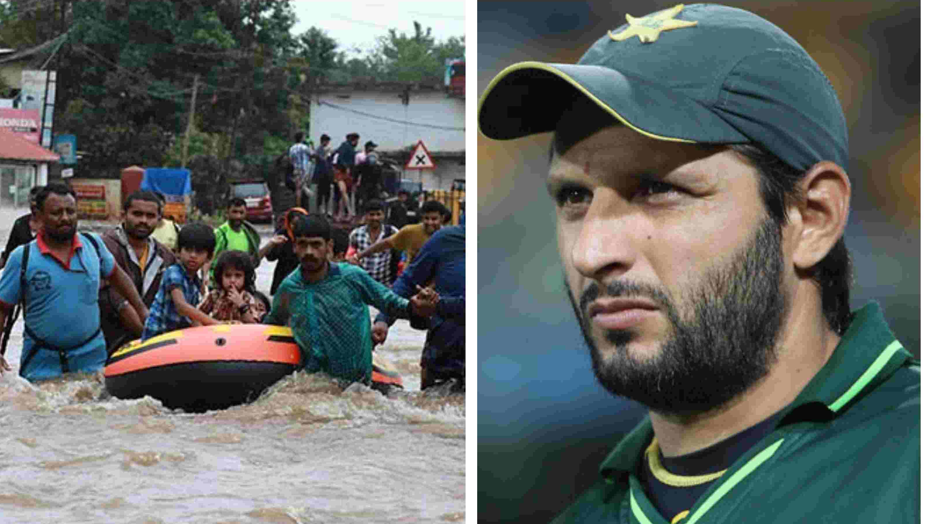 Shahid Afridi conveys his good wishes for the Kerala flood victims