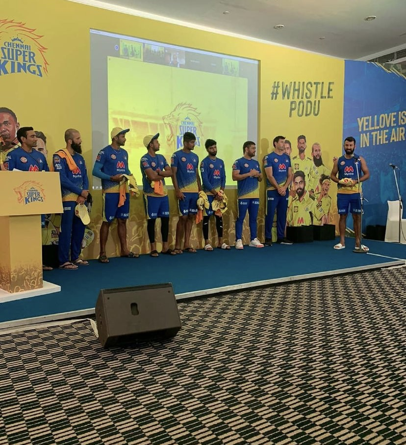 CSK's new signings were given jerseys by MS Dhoni | Instagram