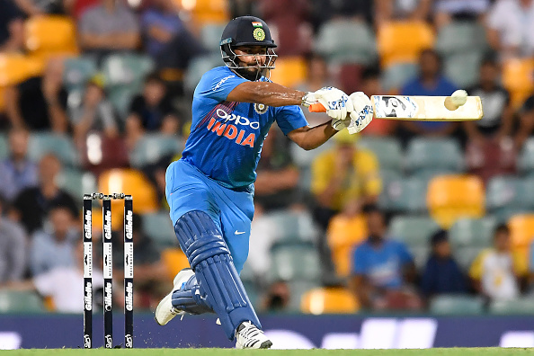 Rishabh Pant was batting beautifully before he threw away his wicket in the first T20I against Australia | Getty