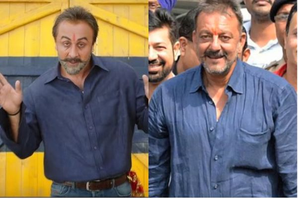 Ranbir Kapoor in and as Sanjay Dutt in the movie 'Sanju'