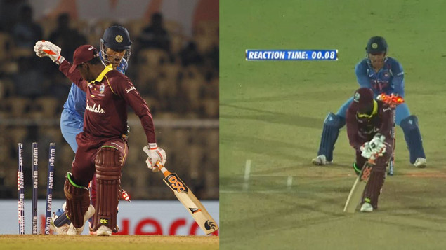 IND v WI 2018: Watch- MS Dhoni's fastest stumping against West Indies during fourth ODI