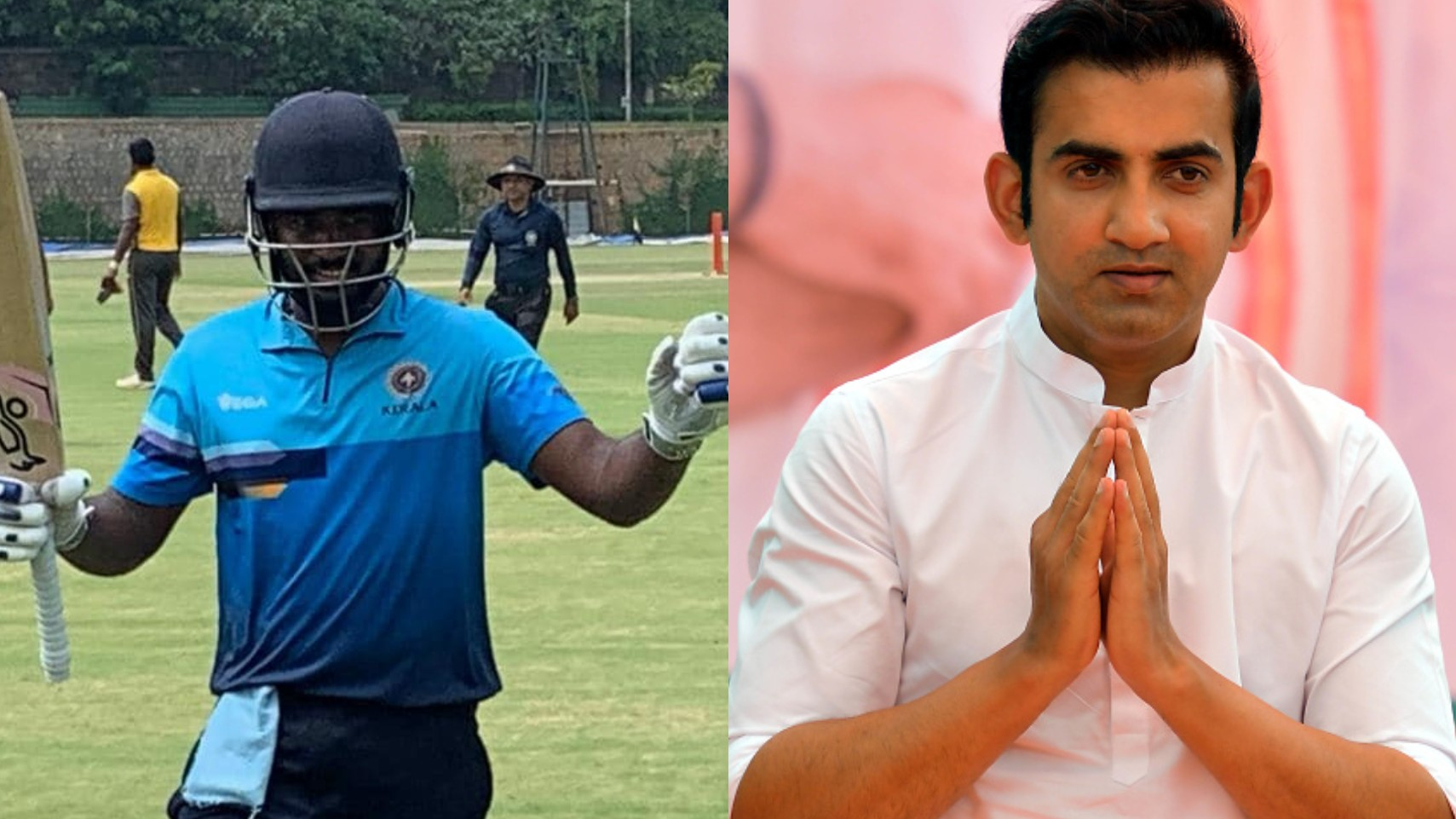 Gautam Gambhir lauds Kerala's Sanju Samson on his record 212* against Goa