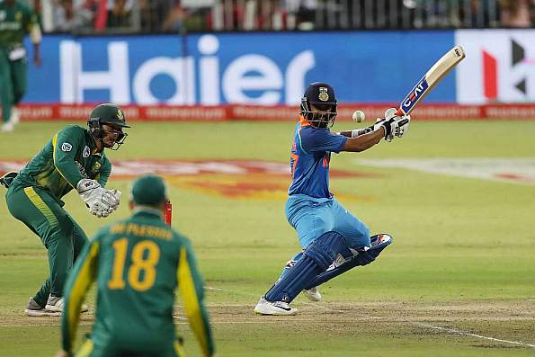Ajinkya Rahane plays a shot during his 79 in the first ODI at Durban | BCCI