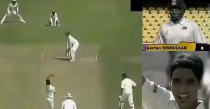 Bhuvneshwar dismissed Tendulkar for his only duck in domestic cricket
