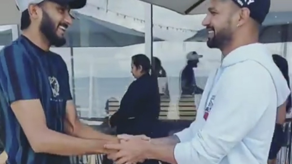 WATCH - Khaleel Ahmed and Shikhar Dhawan celebrate Eid-Al-Adha