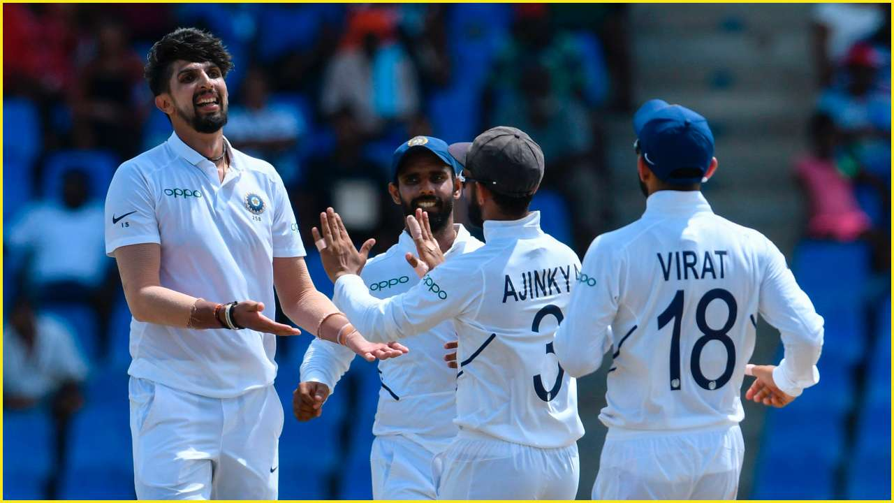 Indian bowlers won them the game in Antigua by 318 runs | Getty