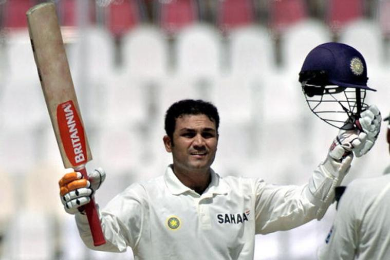 Virender Sehwag became the first Indian to score a Test 300 in Multan in 2004 | Getty