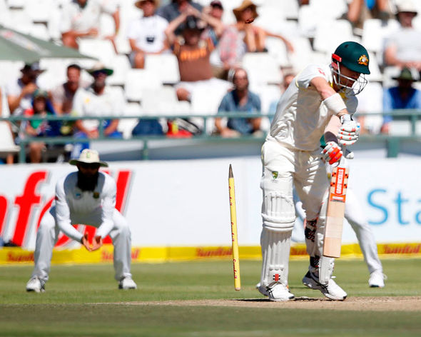 David Warner clean bowled by Kagiso Rabada | GETTY