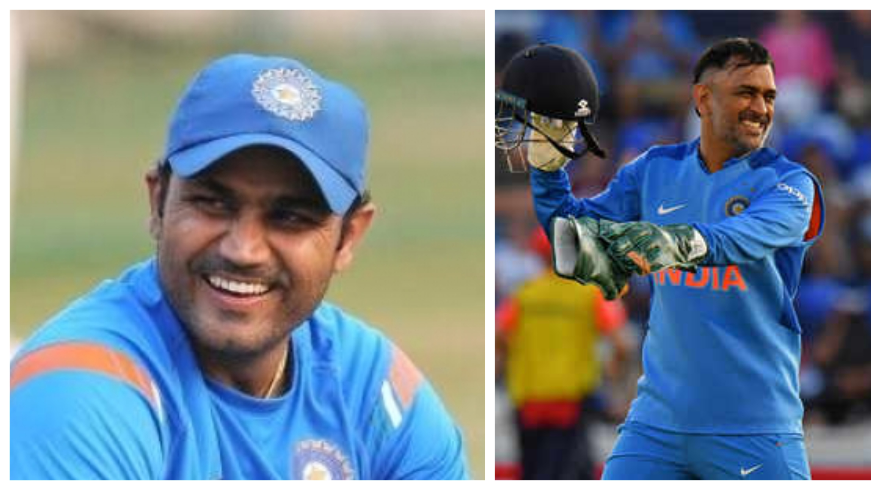Virender Sehwag slams a fan over his comments on Mahendra Singh Dhoni