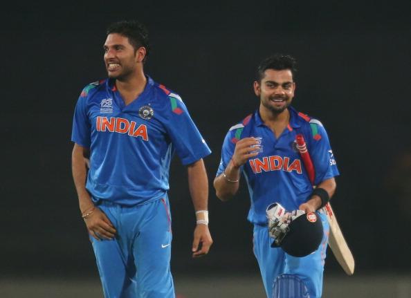 Virat Kohli and Yuvraj Singh | Getty