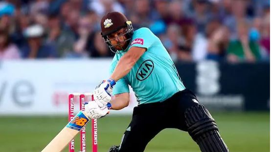 Aaron Finch scores a record-setting T20 ton for Surrey