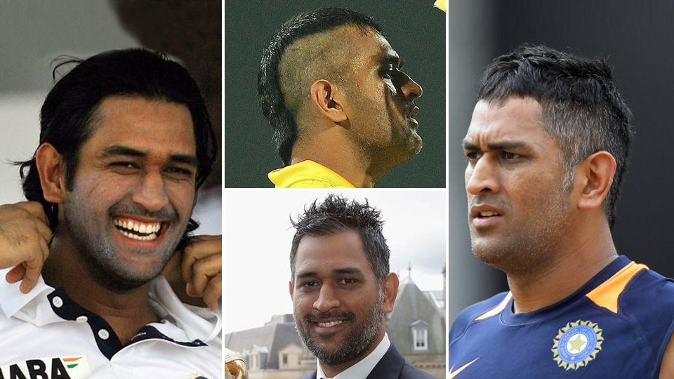 In Pics: MS Dhoni sports a new stylish haircut
