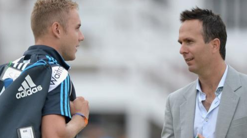 Stuart Broad says he and Michael Vaughan have come to terms and patched up