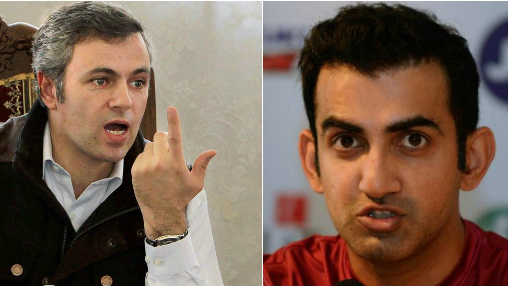 Gautam Gambhir and Omar Abdullah spar on Twitter over Mannan Wani's death