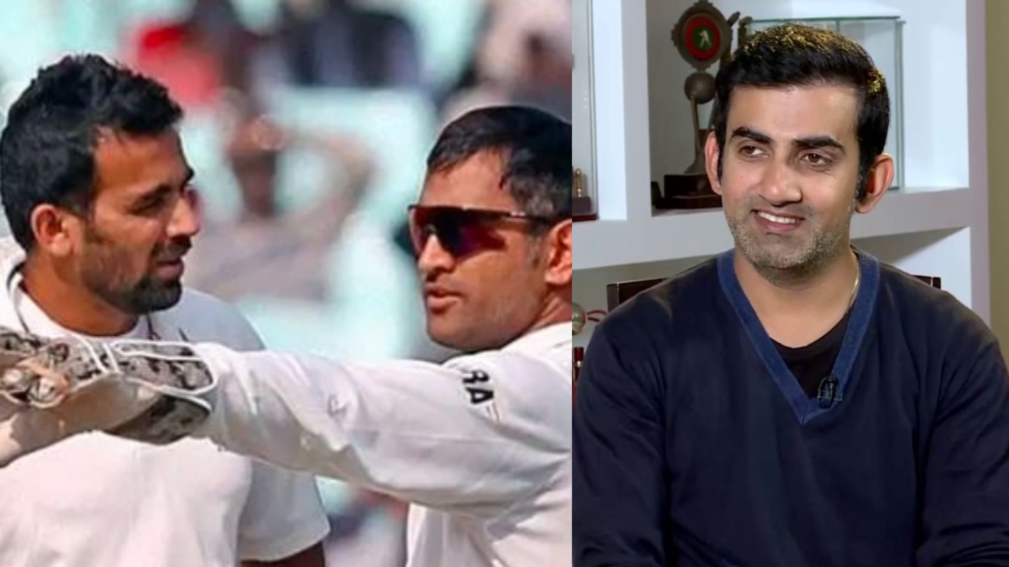 Gambhir believes Dhoni was a 'very lucky' captain; credits Zaheer for his success as Test captain