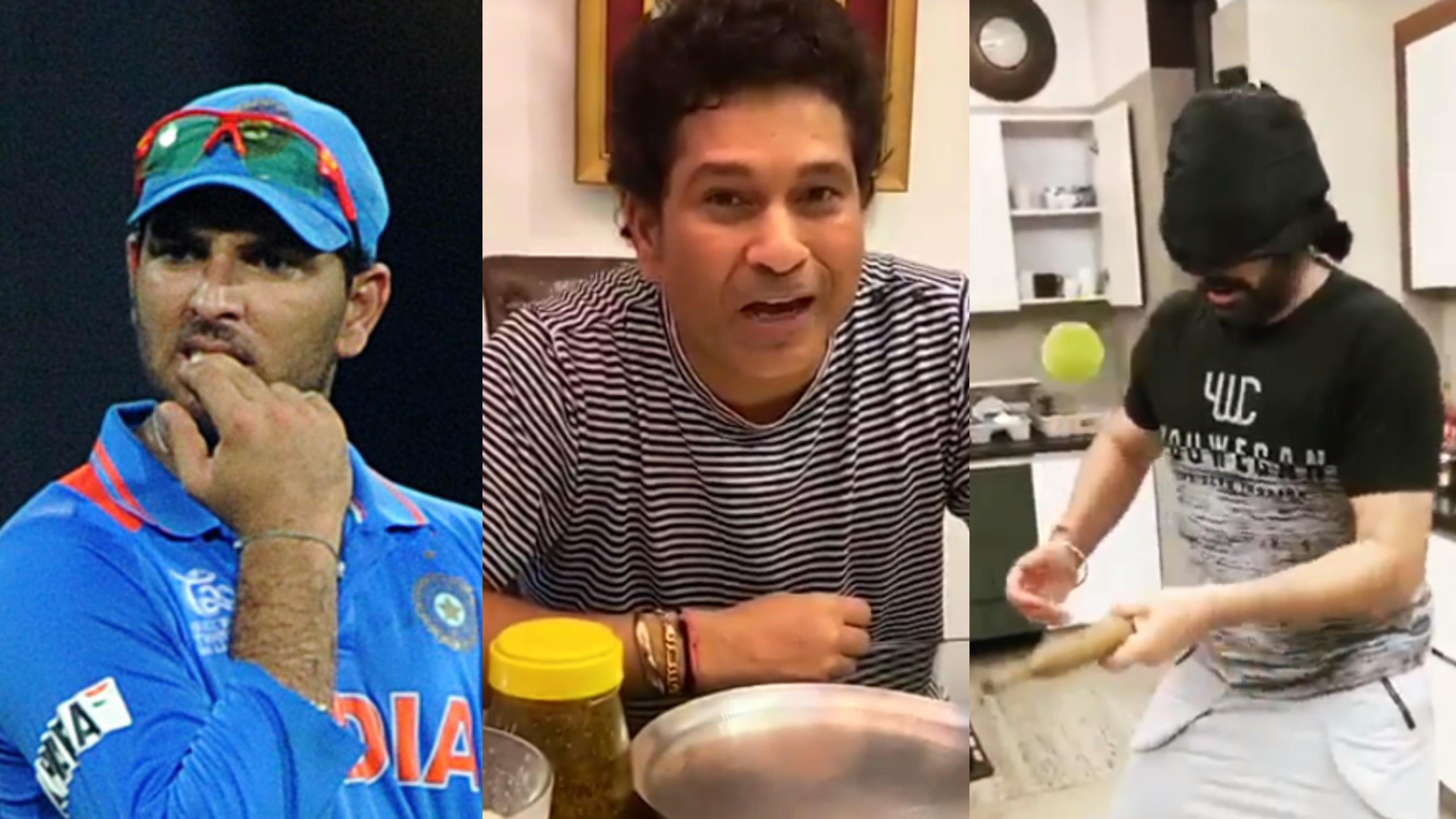 WATCH - Sachin Tendulkar takes up Yuvraj Singh's kitchen challenge; asks