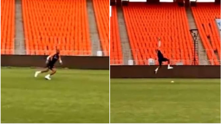 IND v ENG 2021: WATCH - Hardik Pandya takes a stunning one-handed catch during practice session