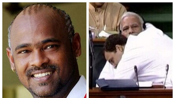 Vinod Kambli appreciates Rahul Gandhi for hugging PM Modi during No Confidence motion in Lok Sabha