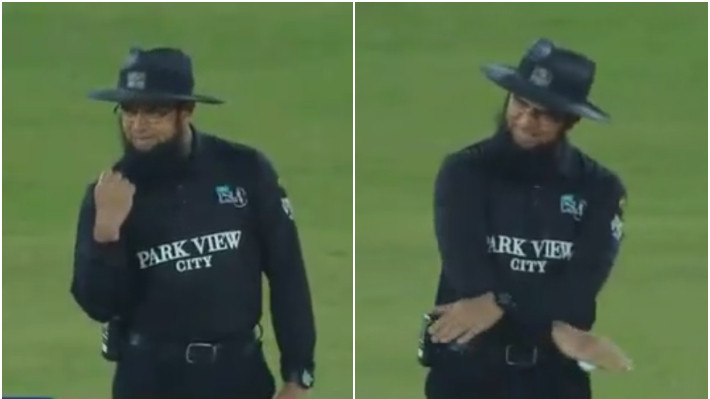 PSL 2021: WATCH - Aleem Dar celebrates after his decision remains unchanged despite DRS call