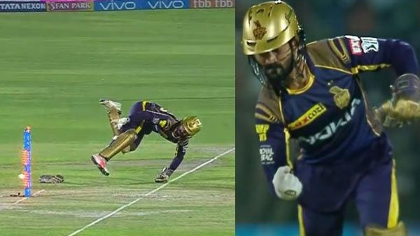 WATCH: Dinesh Karthik's 'Dhonisque' effort to dismiss Ajinkya Rahane