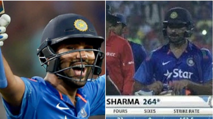 ICC reminds Sri Lankan fans about the costly drop of Rohit Sharma during his 264